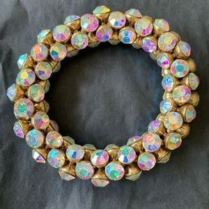 J. Crew Jewelry - J. Crew Iridescent Crystal Earrings and Bracelet